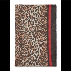 Express Leopard Print Oblong Scarf